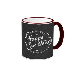 Tenga una Feliz Año Nuevo - tba Taza A Dos Colores