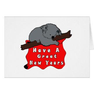 Tenga una gran koala de los Años Nuevos Tarjeta De Felicitación