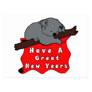 Tenga una gran koala de los Años Nuevos Tarjeta Postal