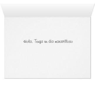 Tenga una lengua Día-Española maravillosa Tarjeta De Felicitación