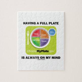 Tenga una placa llena está siempre en mis grupos puzzles