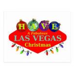 TENGA una postal fabulosa del navidad de Las Vegas
