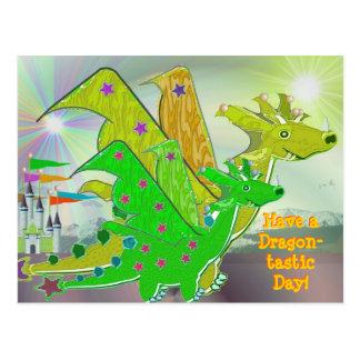 Tenga una postal linda de los dragones del día de