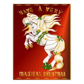 Tenga una postal muy mágica del navidad