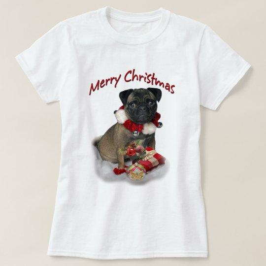 Tenga una ropa de las Felices Navidad de Puggle Playera