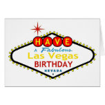 Tenga una tarjeta de cumpleaños fabulosa de Las Ve