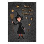 Tenga una tarjeta de la bruja de Halloween del Abu