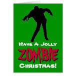 Tenga una tarjeta de Navidad alegre del zombi (el