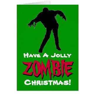 Tenga una tarjeta de Navidad alegre del zombi el