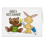 tenga una tarjeta de verano agradable