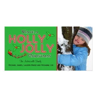 Tenga una tarjeta plana de encargo alegre de la tarjeta con foto personalizada