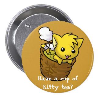 ¿Tenga una taza de té del gatito? Pin