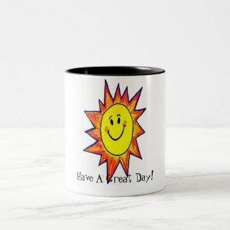 Tenga una taza grande del gran día