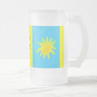 Tenga una taza risuena del vidrio del verano del