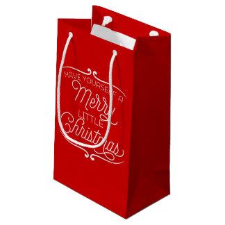 Tenga usted mismo los Felices pequeños Navidad Bolsa De Regalo Pequeña
