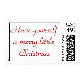 Tenga usted mismo los Felices pequeños Navidad Sello