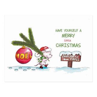 Tenga usted mismo los Felices pequeños Navidad - Tarjetas Postales