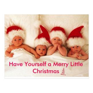 Tenga usted mismo los Felices pequeños Navidad Tarjeta Postal