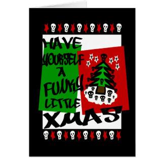 Tenga usted mismo pequeña Navidad enrrollada, tarj Tarjeta De Felicitación