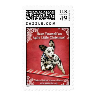 Tenga usted mismo pequeño navidad ágil sello
