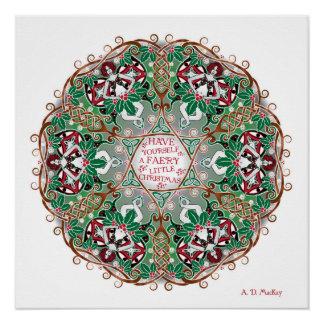 Tenga usted mismo pequeño navidad de un Faery Perfect Poster