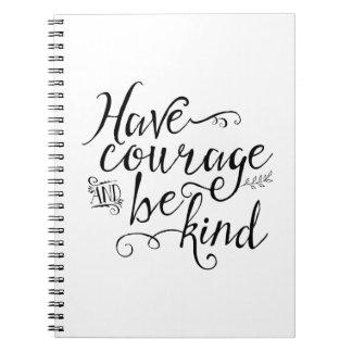 Tenga valor y sea cuaderno bueno