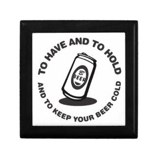 Tenga y sostenga cerveza fría caja de regalo