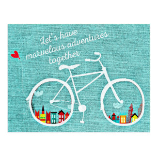 Tengamos aventuras maravillosas juntos postal