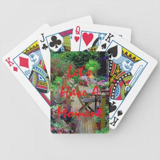 Tengamos naipes de un momento baraja cartas de poker