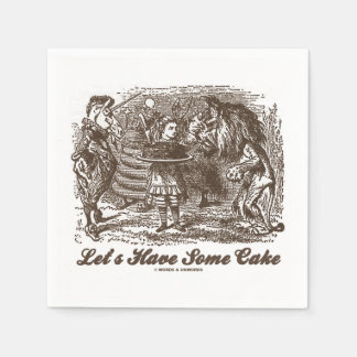 Tengamos un poco de torta (el león del unicornio servilletas de papel
