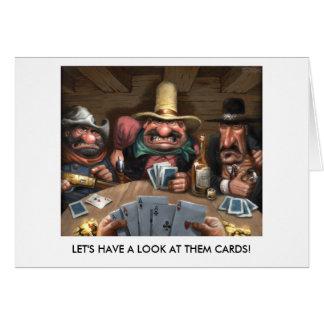 ¡Tengamos una mirada en ellos las tarjetas!