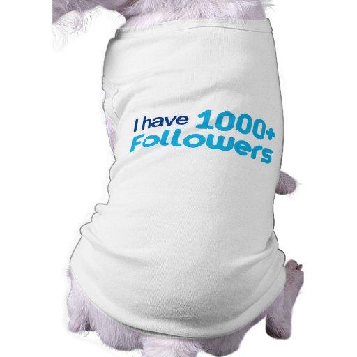 Tengo 1000+ Seguidores Camisetas De Mascota
