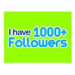 Tengo 1000+ Seguidores Postal