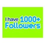 Tengo 1000+ Seguidores Postales