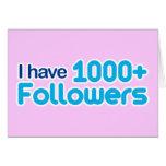 Tengo 1000+ Seguidores Tarjeton