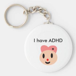 Tengo ADHD Llavero Redondo Tipo Pin