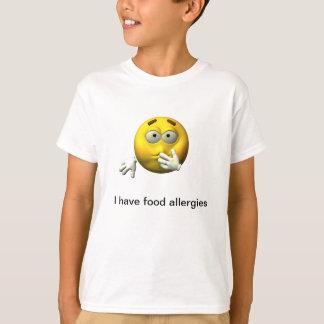 Tengo alergia alimentaria remera