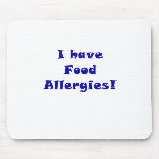 Tengo alergias alimentarias mouse pads