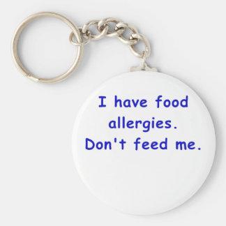 Tengo alergias alimentarias no me alimento llavero redondo tipo pin