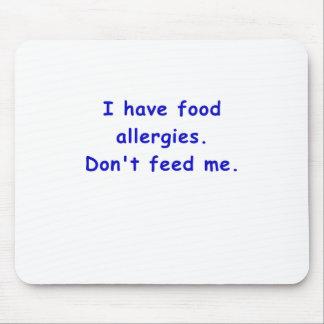 Tengo alergias alimentarias no me alimento tapete de ratón