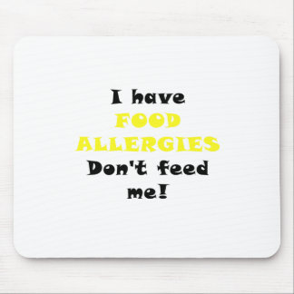 Tengo alergias alimentarias no me alimento tapete de raton
