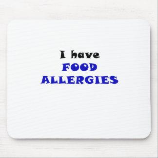 Tengo alergias alimentarias alfombrilla de raton