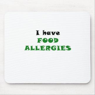 Tengo alergias alimentarias alfombrilla de ratones
