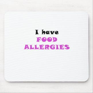 Tengo alergias alimentarias alfombrilla de ratón