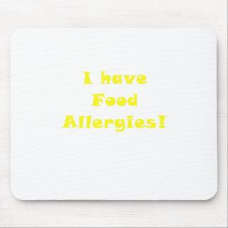 Tengo alergias alimentarias tapetes de raton