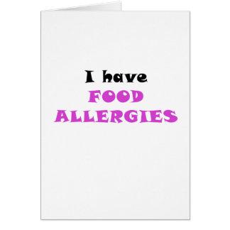 Tengo alergias alimentarias felicitacion