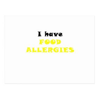 Tengo alergias alimentarias postal