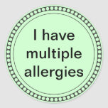 Tengo alergias múltiples pegatinas redondas