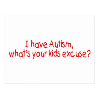 Tengo autismo cuál es su excusa de los niños postal
