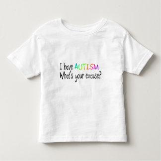 Tengo autismo cuál es su excusa playera de niño